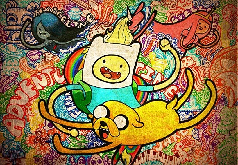 Twenty-three canvas poster Adventure Time Tv Play Poster Family Silk Wall (24X36 Inch) 03