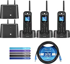 $149 » Motorola O211 DECT 6.0 Long Range Cordless Phone with Digital Answering Machine Bundle with 2-Pack of O212 Handsets, Bluco...