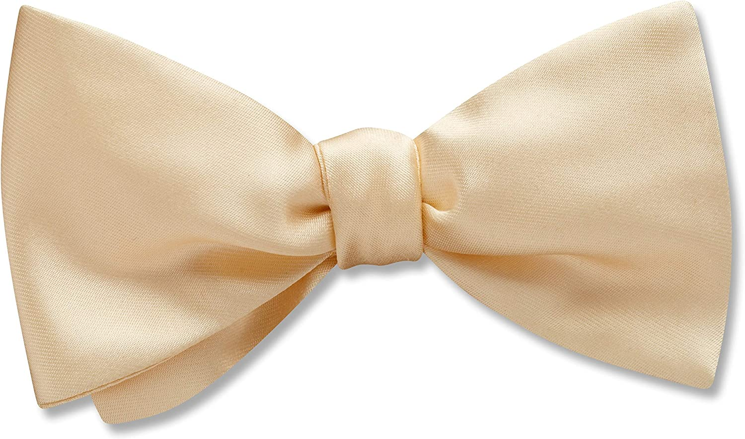 Somerville Ivory White Solid, Men's Bow Tie, Handmade in the USA