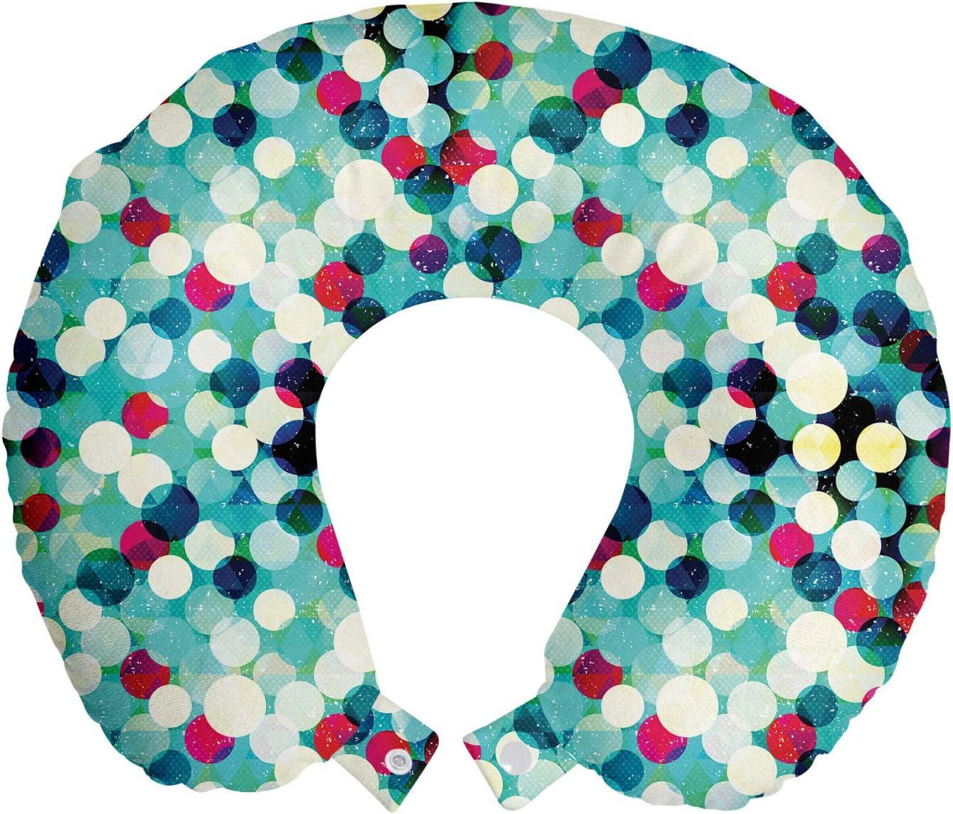 Ambesonne Grunge Travel Pillow Neck W Austin 2021 Mall Pattern Vintage Rest with