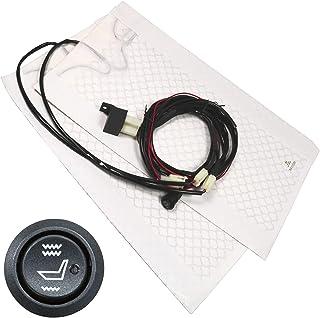 2 Almohadillas cojin ergonómica termica para asiento delantero del conductor, caliente, Coche carro, vehiculo provista con 2 niveles de intensidad