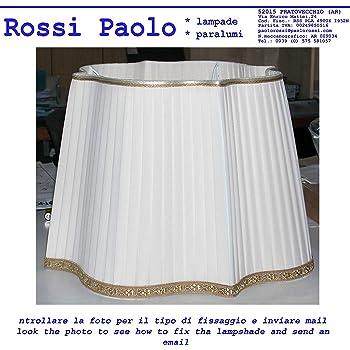 Paralume cornice tronco cono in tessuto nastrato a mano produzione propria made in Italy (cm 25)
