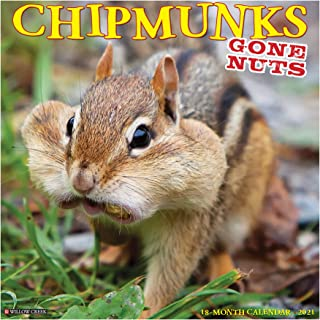 Chipmunks (Gone Nuts!) 2021 Wall Calendar