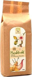 Bio-Mandelmehl 800g teilentölt, naturbelassen - Vollkern: aus ganzen spanischen Süßmandeln der Sorte Guara mit Haut - vermahlen in Granitsteinmühle