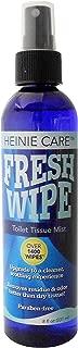 Fresh Wipe Toilet Tissue Spray- Instantly Turn Your Toilet Paper into a Wipe. Don't Clog Toilets. 1400 Sprays per Bottle. (8oz)
