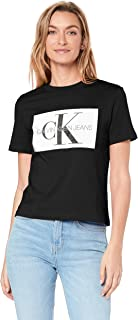 Calvin Klein Jeans Women's Iconic Monogram Box Straight T Shirt