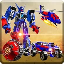 US Police Robot Transform Helicopter Wars: transform robot War: Robot fight police car games free for kids 2018