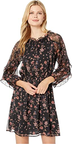 Long Sleeve Ruffled Bohemian Garden Dress