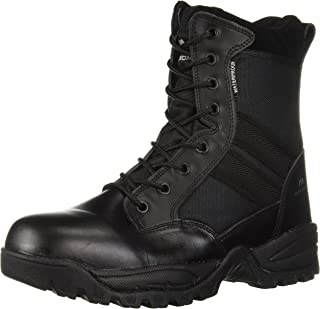 """Maelstrom Tac Force Men's 8"""" Black Waterproof Military Tactical Boot with Zipper"""