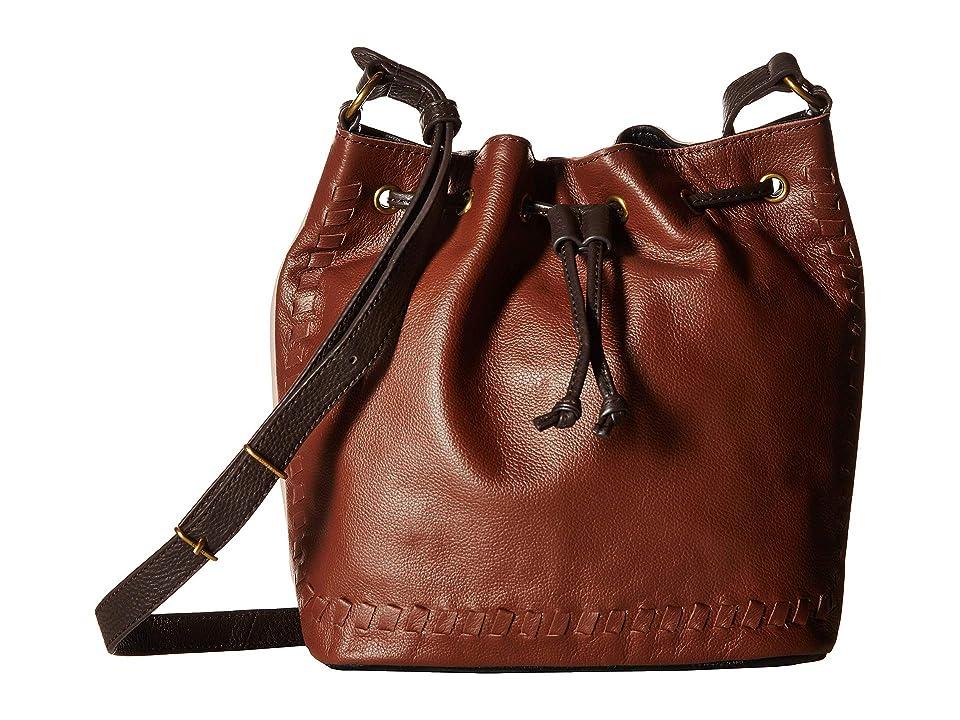 The Sak Gigi Drawstring Three-Way by the Sak Collective (Teak Block) Handbags, Tan