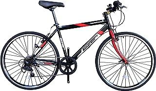 Eizer(アイゼル) 【クロスバイク】街に合う! おしゃれなバイク! シマノ7段変速で快適走行! 可変ステムであなたにピッタリハンドル高さ調整! 全5カラーバリエーション! C808 ブラック/レッド 26インチ