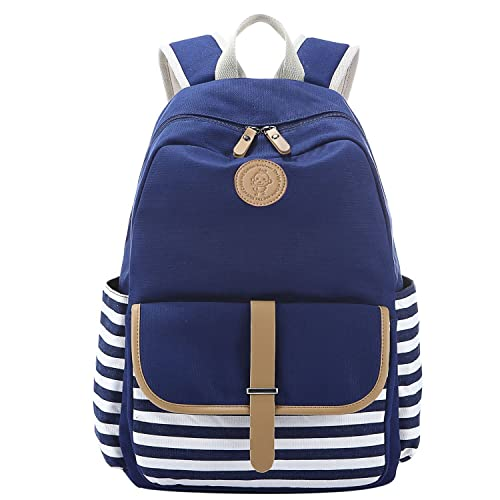 S-ZONE Preppy French Breton Nautical Striped Backpack Rucksack Marine  Sailor Navy Stripy School Bags 50d7a59d41