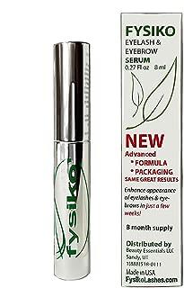 Fysiko eyelash growth serum, natural brow and lash growth enhancer for longer, thicker and dark eyelashes and eyebrows