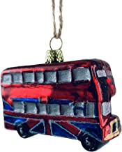 Cody Foster & Co London Double Decker Bus Miniature Glass Hanging Ornament