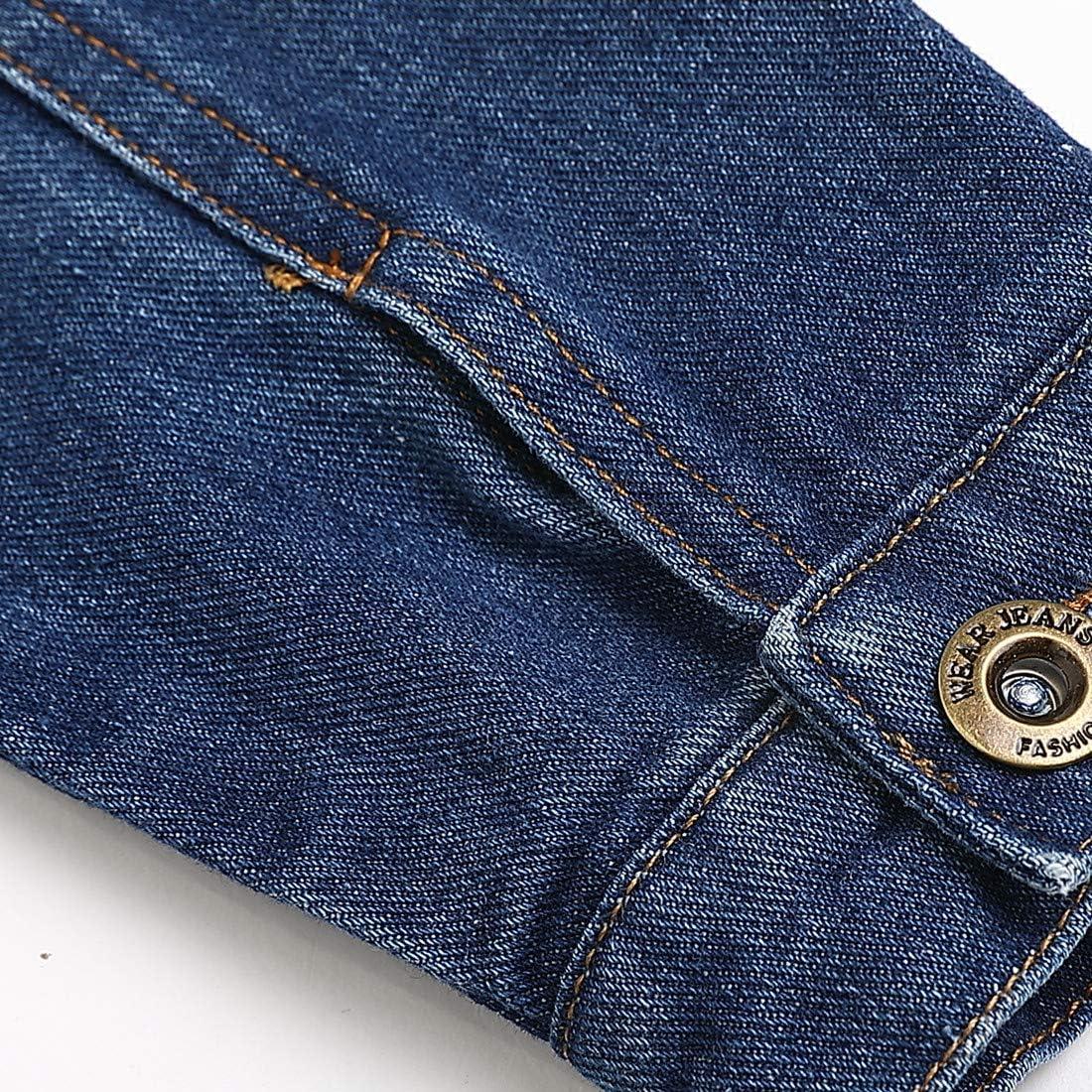 Sooxiwood Little Boys Denim Jacket Buttons Pocket