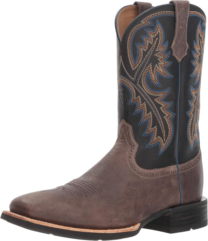 ARIAT - Herren-Western-Schuhe von Quickdraw Western, 42.5 M EU, West grau Tack Room schwarz