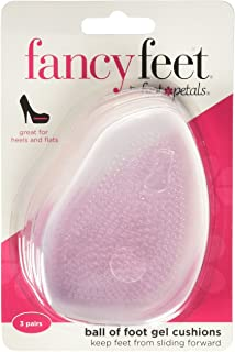 Foot Petals Fancy Feet Gel Cushions - 3-Pack of Cushioned Ball of Foot Inserts for High Heels and Other Uncomfortable Shoes