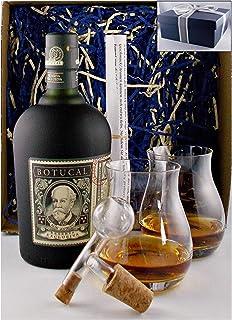 Geschenk Ron Botucal Reserva Exclusiva Rum  2 Glencairn Gläser  Glaskugelportionierer
