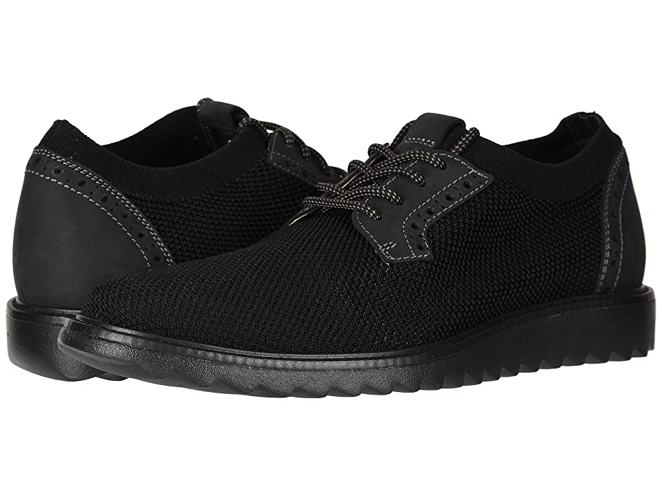 Dockers Einstein Knit/Leather Smart Series Dress Casual Oxford with NeverWet (Black Knit/Nubuck) Men