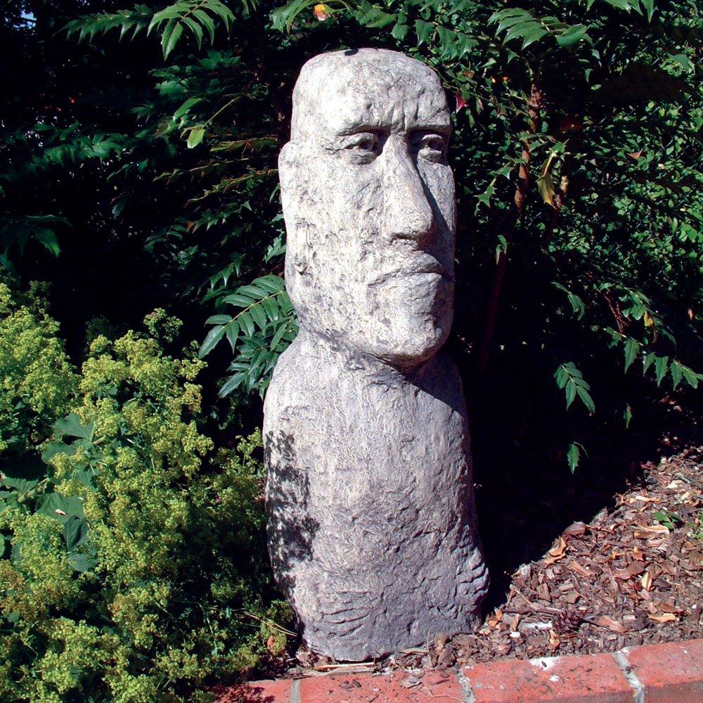 Estatuas de la Isla de Pascua grande - Moai (XL) Escultura: Amazon.es: Jardín