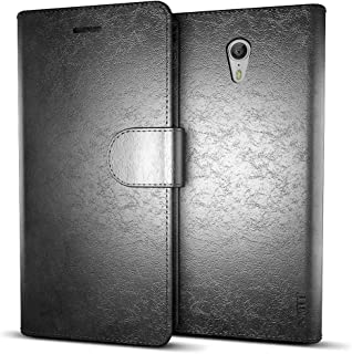 MTT Leather Flip Wallet Case with Card Slot for Lenovo Zuk Z1 (Black)