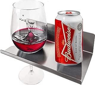 Atlas Hold Metal Shower Wine Glass Holder, Toilet Organizer Shelf | Shower Beer Holder | Kitchen, Wall, Bath, Tub, Mounted Stainless Steel Rack | Bath Accessories | Wine Accessories for Women and Men