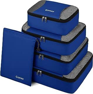 Gonex Packing Cubes Travel Luggage Organizer with Shoe Bag (Deep Blue)