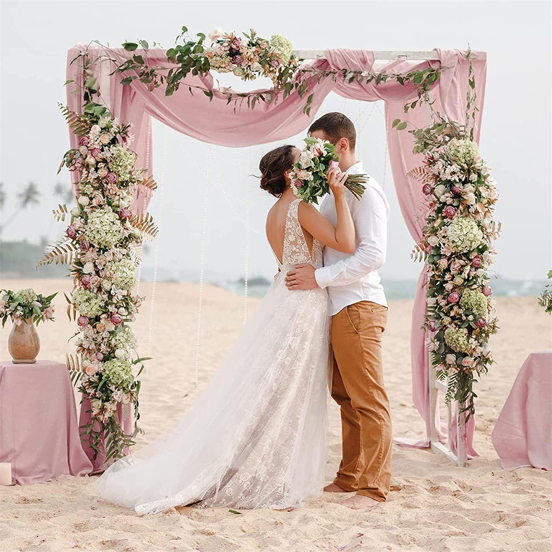 Chiffon Table Runner Dusty Rose Ta Soldering Decoration 10ft Sales Sheer Wedding