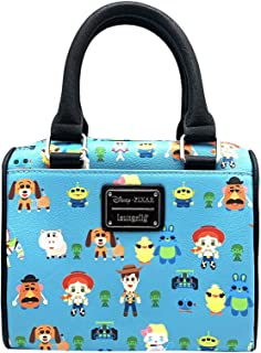 Loungefly x Toy Story Chibi Characters Allover-Print Duffel Purse Blue Size: One Size