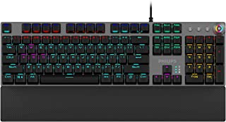 Philips SPK8614 USB Wired Mechanical Gaming Keyboard with Rainbow Backlit | Wrist Rest Pad | for PC Laptop Desktop Computers