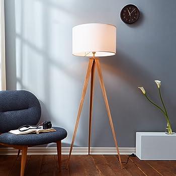 Versanora VN-L00007 Romanza Tripod Metal Legs LED Floor Lamp, White