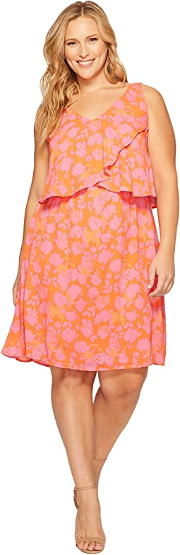 Plus Size Lane Double V Woven Dress