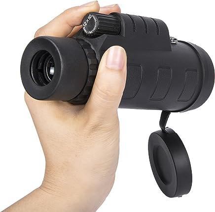 Babimax Telescopio Monocular 12X50 Alta Magnificaci/ón Mini Telesc/ópica Port/átil Alta Definici/ón para Acampana,Concierta,Juego de F/útbol
