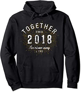 1st Anniversary Hoodie Together Since 2018 Shirt