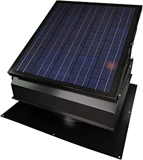 30-Watt Solar Attic Fan (BDB) with Thermostat/Humidistat/adapter (22.5 x 22.5 x 11 IN.) - Runs at Night - Brushless Motor � Solar Vent Hail and Weather Resistant � �Builder Series� by Remington Solar