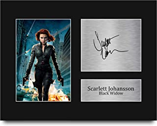 HWC Trading Scarlett Johansson firmado por la carta de Estados Unidos tamaño impreso autógrafo negro viuda los vengadores impresión foto