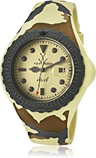 Women's Jelly Yellow Dial Yellow Camouflage Silicone