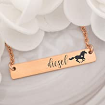 Personalized Name Horse Bar Necklace Horse Jewelry Personalize Bar Horse Name Necklace Personalized Necklace Jewelry Personalized Horse Necklace HORSE-NECK