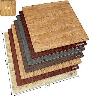 Sorbus Wood Grain Floor Mats Foam Interlocking Mats Tile 3/8-Inch Thick Flooring Wood Mat..