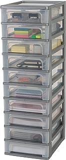 Amazon Basics 135670 Tour de Rangement 10 tiroirs Organizer Chest, Plastique, Gris, 10 x 4 L