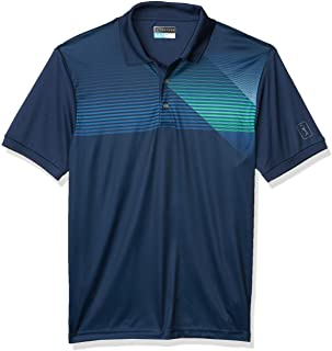 PGA TOUR Men's Short Sleeve Chest Print Polo Shirt