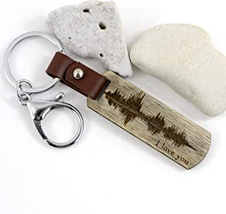 personalized sound wave keychain