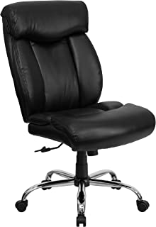 Flash Furniture HERCULES Series Big & Tall 400 lb. Rated Black Leather Executive Ergonomic Office Chair with Full Headrest
