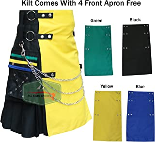 New Modern Ring Wedding Kilt With 4 Front Apron Free - USA Seller