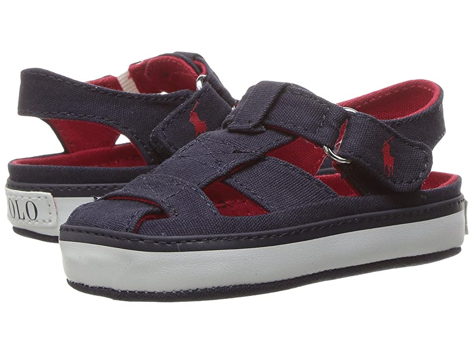 51e42737440c Polo Ralph Lauren Kids Sander Fisherman II (Infant) (Navy Canvas Red) Kid s  Shoes