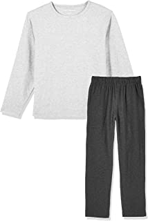 Kid Nation Kids Unisex Cotton with Elastane Long Sleeve Crew Neck Pajama Sets T Shirt and Pants for Boys and Girls 4-12 Years