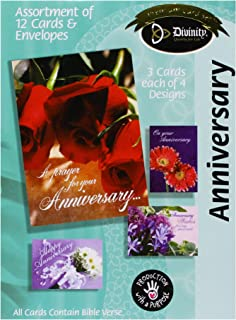 Divinity Boutique Greeting Card Assortment: Anniversary (18037N)
