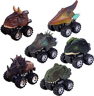 WedFeir Pull Back Dinosaur Cars Set de 6, Dino Cars Toys con