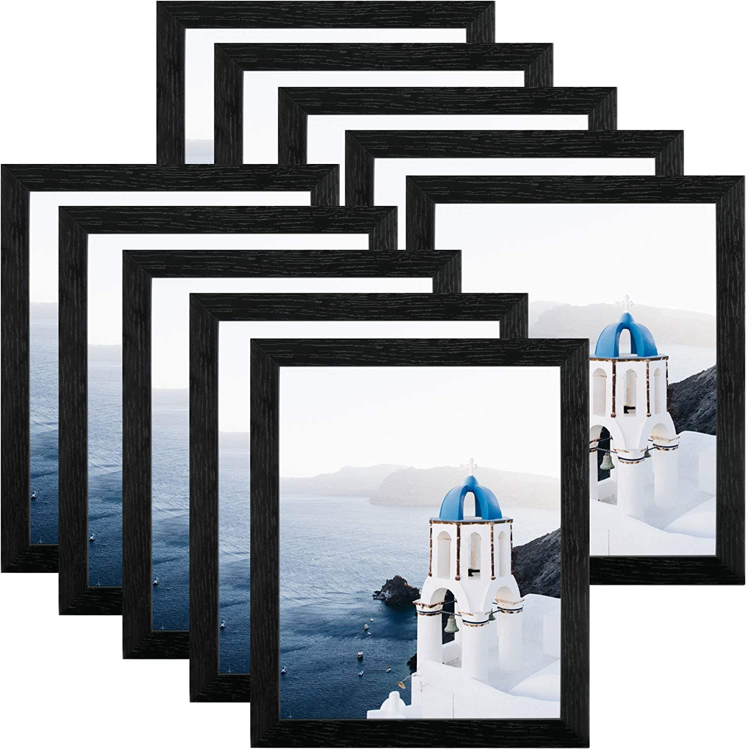 FRAME YI 8x10 Black Picture Frames Tabletop 10 Pack Fr A surprise price is realized Wall Special Campaign and