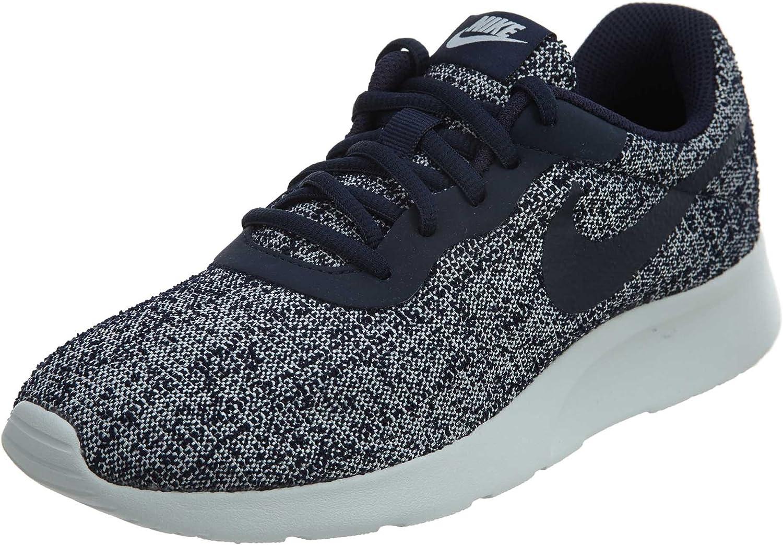 Nike Womens Tanjun Indigo Low Top Lace Up Running Sneaker